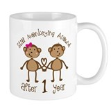 1st Anniversary Love Monkeys Small Mug