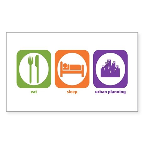 Eat Sleep Urban Rectangle Sticker