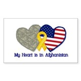 My Heart is in Afghanistan Rectangle Decal