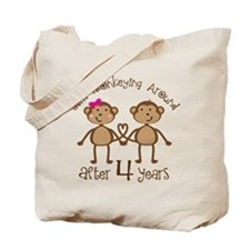 4th Anniversary Love Monkeys Tote Bag