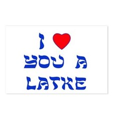 I love you a Latke Postcards (Package of 8)
