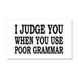 Poor Grammar Car Magnet 20 x 12