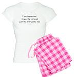 I am human Women's Light Pajamas