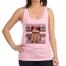 Black and Red Cat Racerback Tank Top