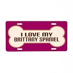 Brittany Spaniel Gift Aluminum License Plate