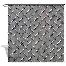 Diamond Plated Steel Shower Curtain