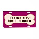 Cairn Terrier Gift Aluminum License Plate