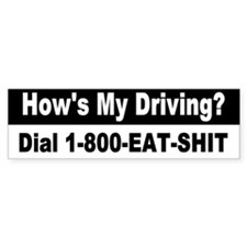 Funny Bumper Car Sticker