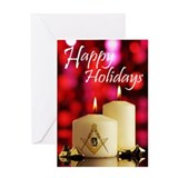 Masonic Happy Holidays Greeting Card
