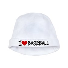 I Heart Baseball baby hat