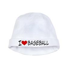 I Heart Baseball baby hat