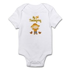 Scarecrow My First Thanksgiving Infant Bodysuit