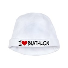 I Heart Biathlon baby hat