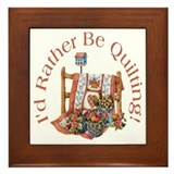 Rather Be Quilting Framed Tile
