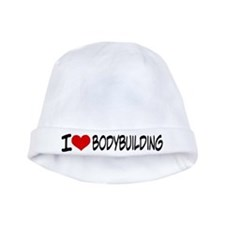 I Heart Bodybuilding baby hat