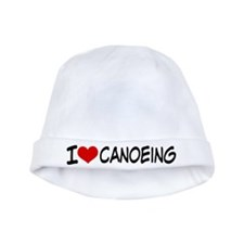 I Heart Canoeing baby hat