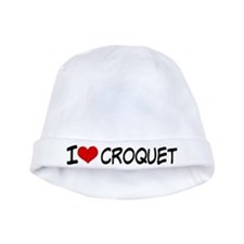 I Heart Croquet baby hat