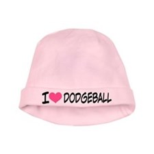 I Heart Dodgeball baby hat