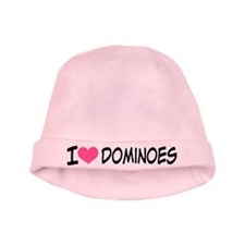 I Heart Dominoes baby hat