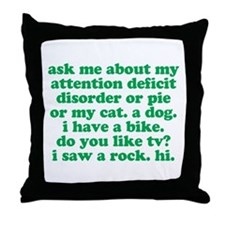 Funny My ADD Quote Throw Pillow
