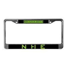 NHE Non Human Entity License Plate Frame