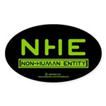 NHE Non Human Entity Oval Sticker