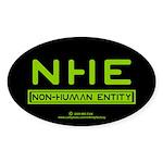NHE Non Human Entity Oval Sticker (10 pk)