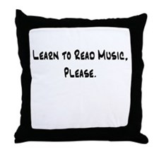 Learn to Read Music Please Throw Pillow