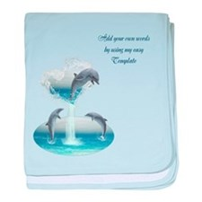 The Heart Of The Dolphins baby blanket