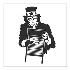 "Sam's Washboard Square Car Magnet 3"" x 3"""