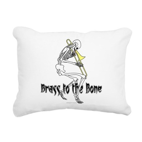 Brass To The Bone Rectangular Canvas Pillow