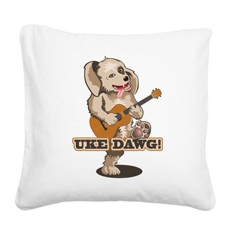 uke-dawg1.png Square Canvas Pillow