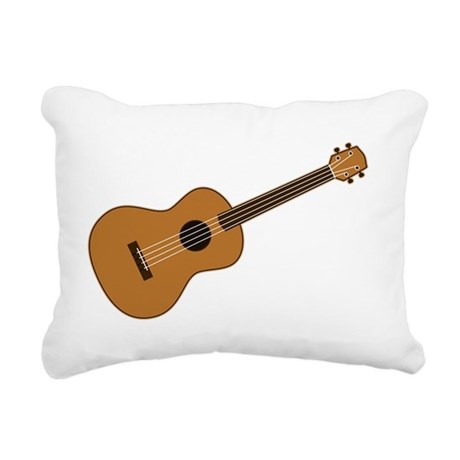 Ukulele Rectangular Canvas Pillow