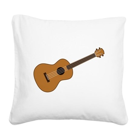 Ukulele Square Canvas Pillow