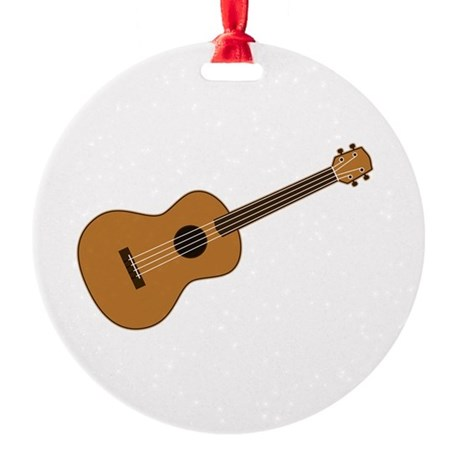 Ukulele Round Ornament
