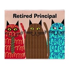 Retired Principal.PNG Throw Blanket