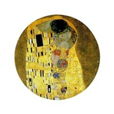"The Kiss by Gustav Klimt 3.5"" Button"