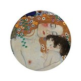 "Mother and Child by Gustav Klimt 3.5"" Button"