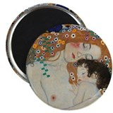 Mother and Child by Gustav Klimt Magnet