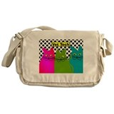 Vet TEch 3 CATS Whimiscal.PNG Messenger Bag