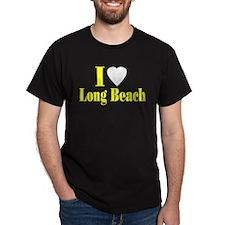 I Love Long Beach Black T-Shirt