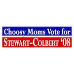 Moms for Stewart-Colbert 2008 bumper sticker