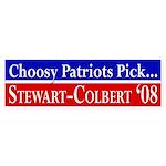 Patriots Stewart-Colbert bumper sticker