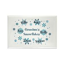 Custom Grandmas Snowflakes Rectangle Magnet