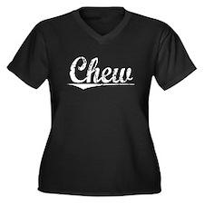 Chew, Vintage Women's Plus Size V-Neck Dark T-Shir
