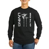 Lineman Living on the Edge LS Dark T-Shirt T