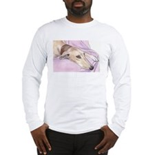 Lurcher on sofa Long Sleeve T-Shirt