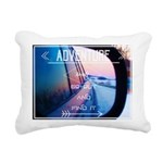 Arctic Fox 3 Rectangular Canvas Pillow