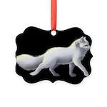 Arctic Fox 3 Picture Ornament