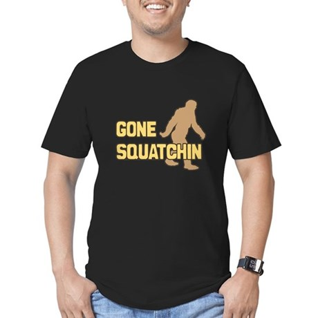Gone Squatchin Mens Fitted Dark T-Shirt